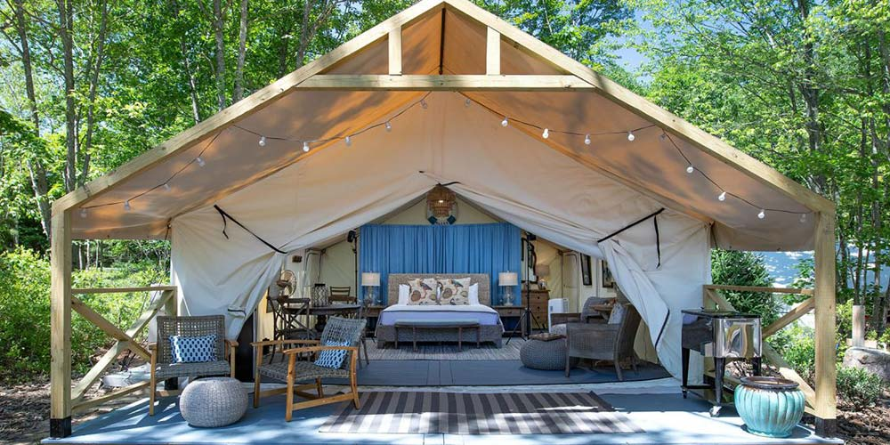 Sandy Pines Campground maine us glamping