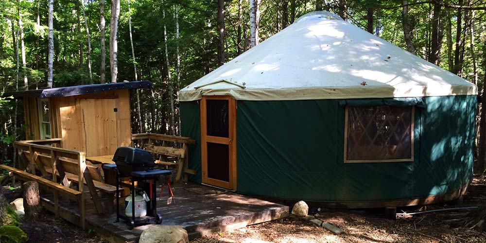 Maine Forest Yurts is glamping